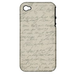 Handwritten Letter 2 Apple Iphone 4/4s Hardshell Case (pc+silicone)