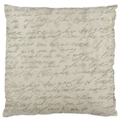 Handwritten Letter 2 Large Flano Cushion Case (two Sides)