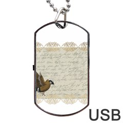 Tag Bird Dog Tag Usb Flash (one Side)