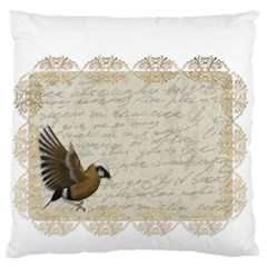 Tag Bird Large Cushion Case (two Sides)