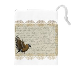 Tag Bird Drawstring Pouches (extra Large)