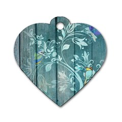Green Tree Dog Tag Heart (one Side)