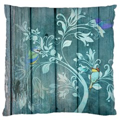Green Tree Large Flano Cushion Case (one Side)