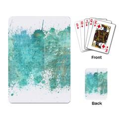 Splash Teal Playing Card