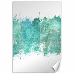Splash Teal Canvas 12  X 18