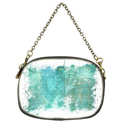 Splash Teal Chain Purses (two Sides)