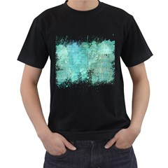 Splash Teal Men s T Shirt (black)