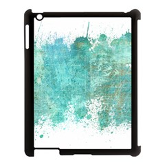 Splash Teal Apple Ipad 3/4 Case (black)