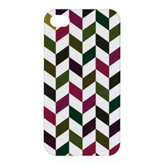 Zigzag Chevron Pattern Green Purple Apple Iphone 4/4s Premium Hardshell Case