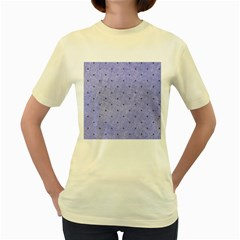 Dot Blue Women s Yellow T Shirt
