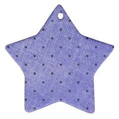 Dot Blue Star Ornament (two Sides)