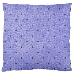 Dot Blue Standard Flano Cushion Case (two Sides)