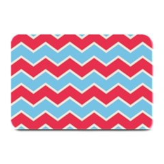 Zigzag Chevron Pattern Blue Red Plate Mats