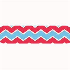 Zigzag Chevron Pattern Blue Red Large Bar Mats