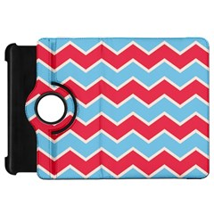 Zigzag Chevron Pattern Blue Red Kindle Fire Hd 7