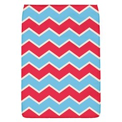 Zigzag Chevron Pattern Blue Red Flap Covers (s)