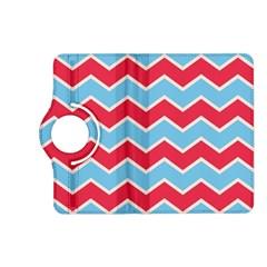 Zigzag Chevron Pattern Blue Red Kindle Fire Hd (2013) Flip 360 Case