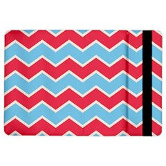 Zigzag Chevron Pattern Blue Red Ipad Air 2 Flip