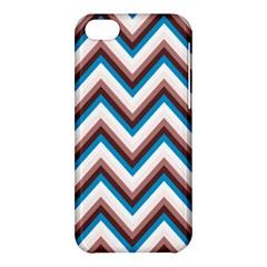 Zigzag Chevron Pattern Blue Magenta Apple Iphone 5c Hardshell Case