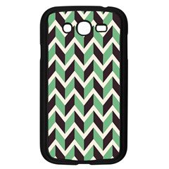 Zigzag Chevron Pattern Green Black Samsung Galaxy Grand Duos I9082 Case (black)