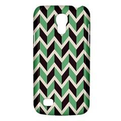 Zigzag Chevron Pattern Green Black Galaxy S4 Mini