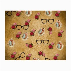 Vintage Glasses Beige Small Glasses Cloth