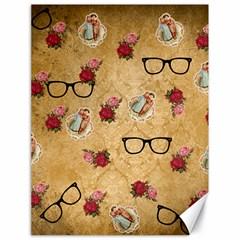 Vintage Glasses Beige Canvas 18  X 24