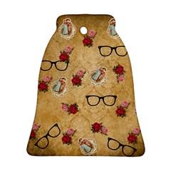 Vintage Glasses Beige Ornament (bell)