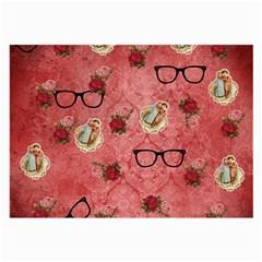 Vintage Glasses Rose Large Glasses Cloth (2 Side)