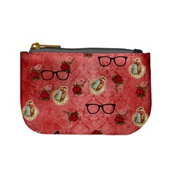 Vintage Glasses Rose Mini Coin Purses