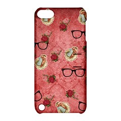 Vintage Glasses Rose Apple Ipod Touch 5 Hardshell Case With Stand
