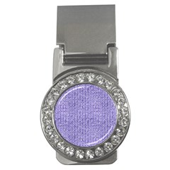 Knitted Wool Lilac Money Clips (cz)