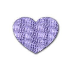 Knitted Wool Lilac Rubber Coaster (heart)