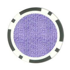 Knitted Wool Lilac Poker Chip Card Guard