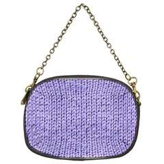 Knitted Wool Lilac Chain Purses (two Sides)