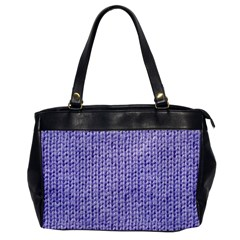 Knitted Wool Lilac Office Handbags