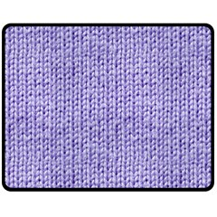 Knitted Wool Lilac Double Sided Fleece Blanket (medium)