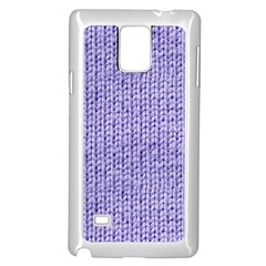 Knitted Wool Lilac Samsung Galaxy Note 4 Case (white)