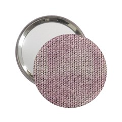 Knitted Wool Pink Light 2 25  Handbag Mirrors