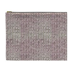 Knitted Wool Pink Light Cosmetic Bag (xl)