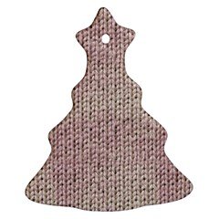 Knitted Wool Pink Light Ornament (christmas Tree)
