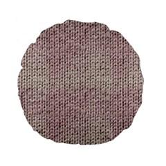 Knitted Wool Pink Light Standard 15  Premium Flano Round Cushions