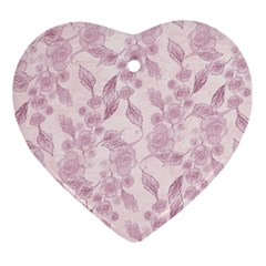 Pink Floral Ornament (heart)