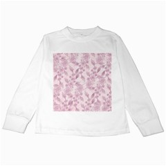 Pink Floral Kids Long Sleeve T Shirts
