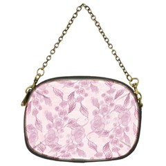 Pink Floral Chain Purses (two Sides)