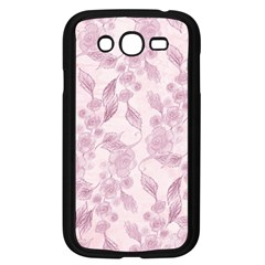 Pink Floral Samsung Galaxy Grand Duos I9082 Case (black)