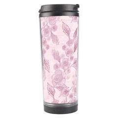 Pink Floral Travel Tumbler