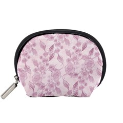 Pink Floral Accessory Pouches (small)