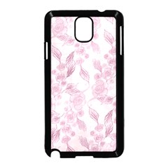 Pink Floral Samsung Galaxy Note 3 Neo Hardshell Case (black)