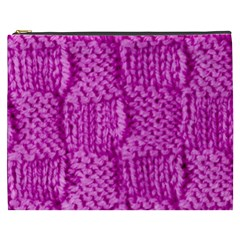 Knitted Wool Square Green Cosmetic Bag (xxxl)